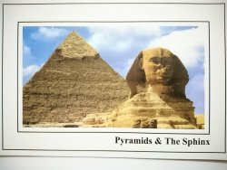 EGYPT. PYRAMIDS AND THE SPHINX