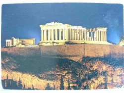 GREECE. ATHENS. THE ILLUMINATED ACROPOLIS