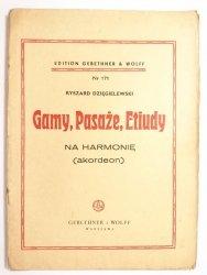 GAMY, PASAŻE, ETIUDY NA HARMONIĘ (AKORDEON) - Dzięgielewski 1950