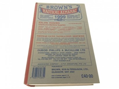 BROWN'S NAUTICAL ALMANAC DAILY TIDE TABLES 1999