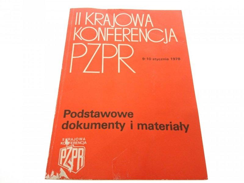 II KRAJOWA KONFERENCJA PZPR 9-10 STYCZNIA 1978