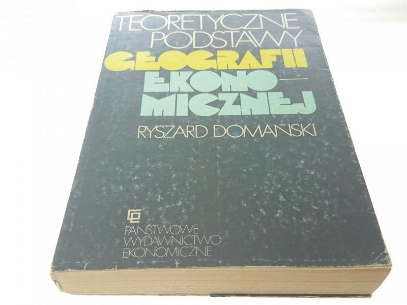 TEORETYCZNE PODSTAWY GEOGRAFII EKONIMICZNEJ 1983