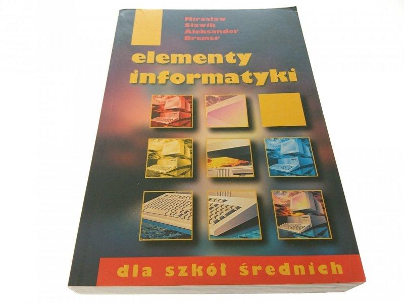ELEMENTY INFORMATYKI - Mirosław Sławik 2000