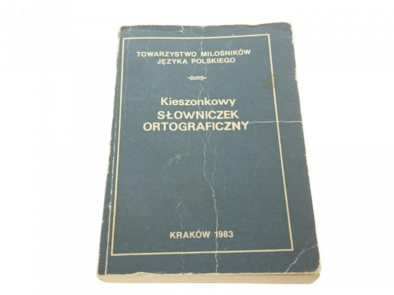 KIESZONKOWY SŁOWNICZEK ORTOGRAFICZNY Pisarek 1983