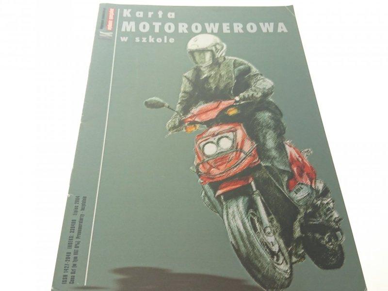 KARTA MOTOROWEROWA W SZKOLE