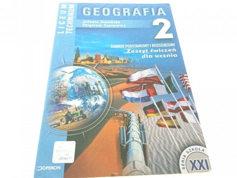 GEOGRAFIA 2 ZESZYT ĆWICZEŃ UCZNIA Siembida (2006)