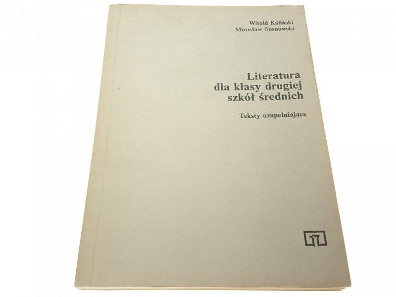 LITERATURA DLA KLASY DRUGIEJ SZKÓŁ ŚREDNICH 1988