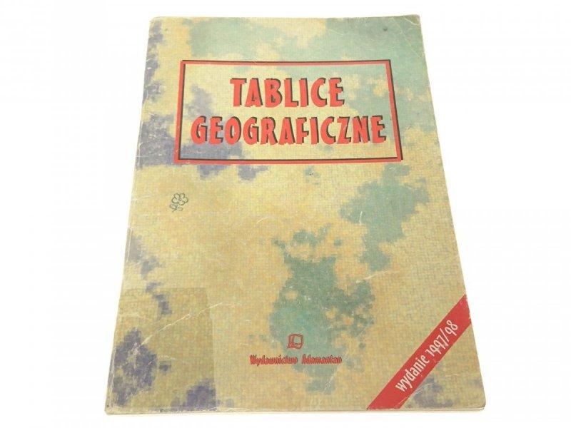 TABLICE GEOGRAFICZNE WYDANIE 1997/98