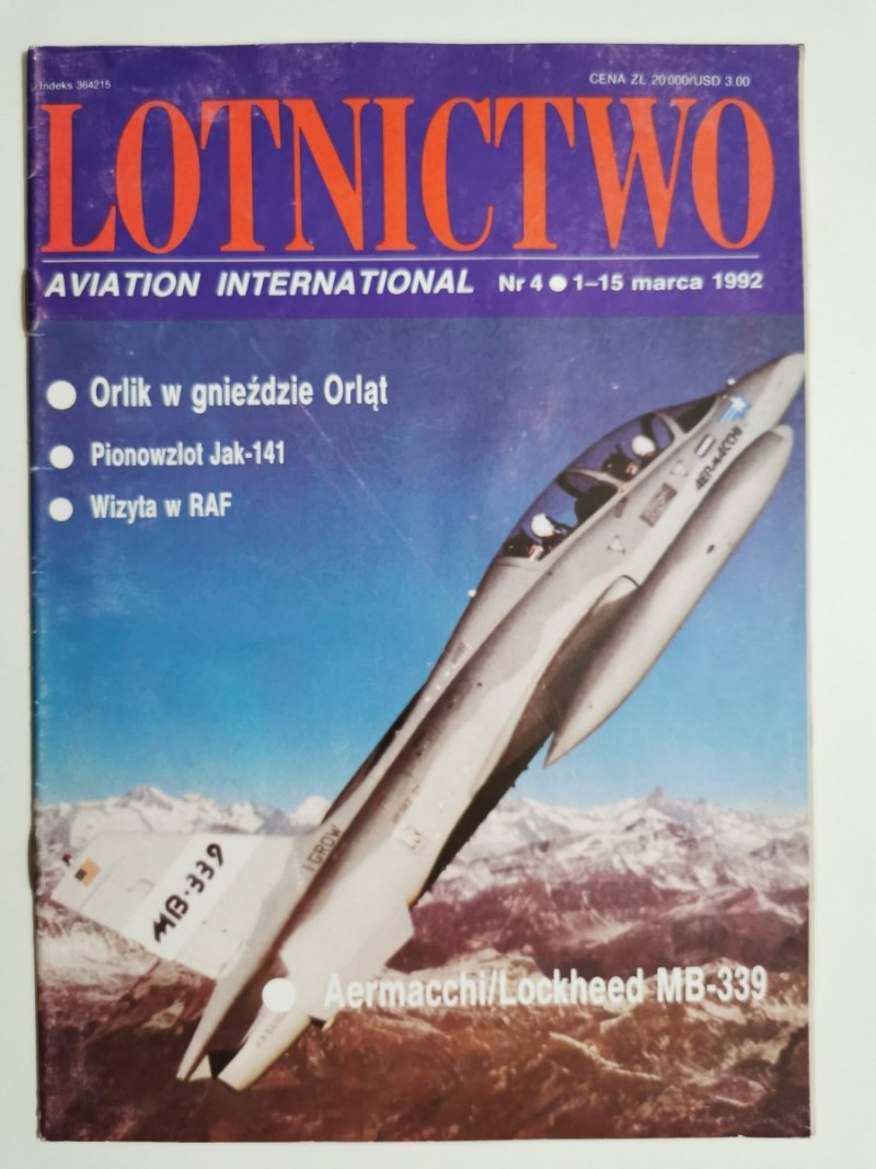 LOTNICTWO NR 4 1992