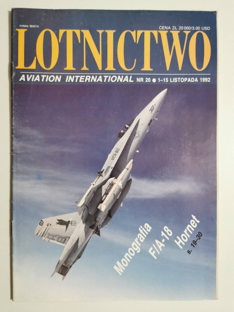 LOTNICTWO NR 20 1992