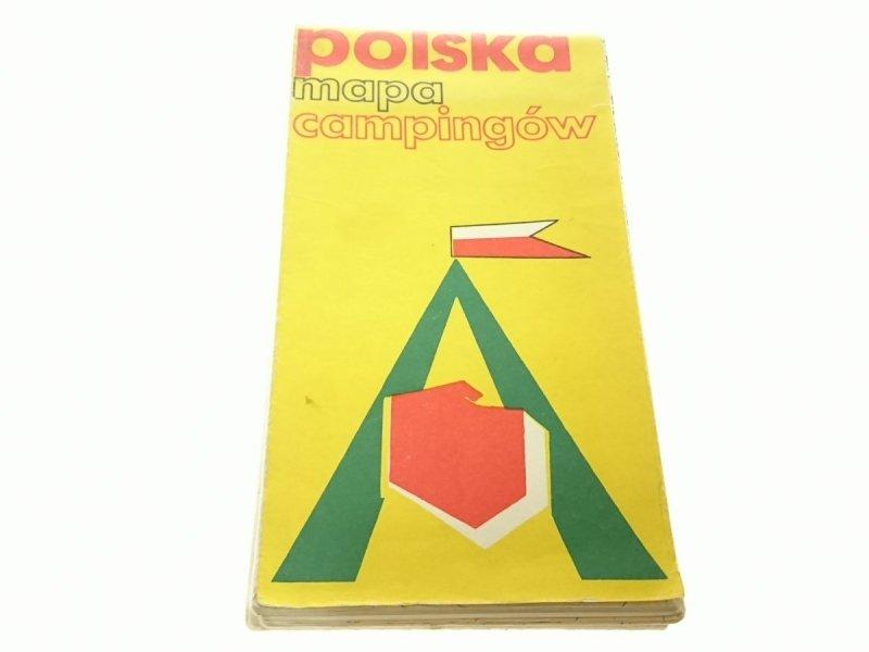 POLSKA MAPA CAMPINGÓW 1:750 000 (1981)
