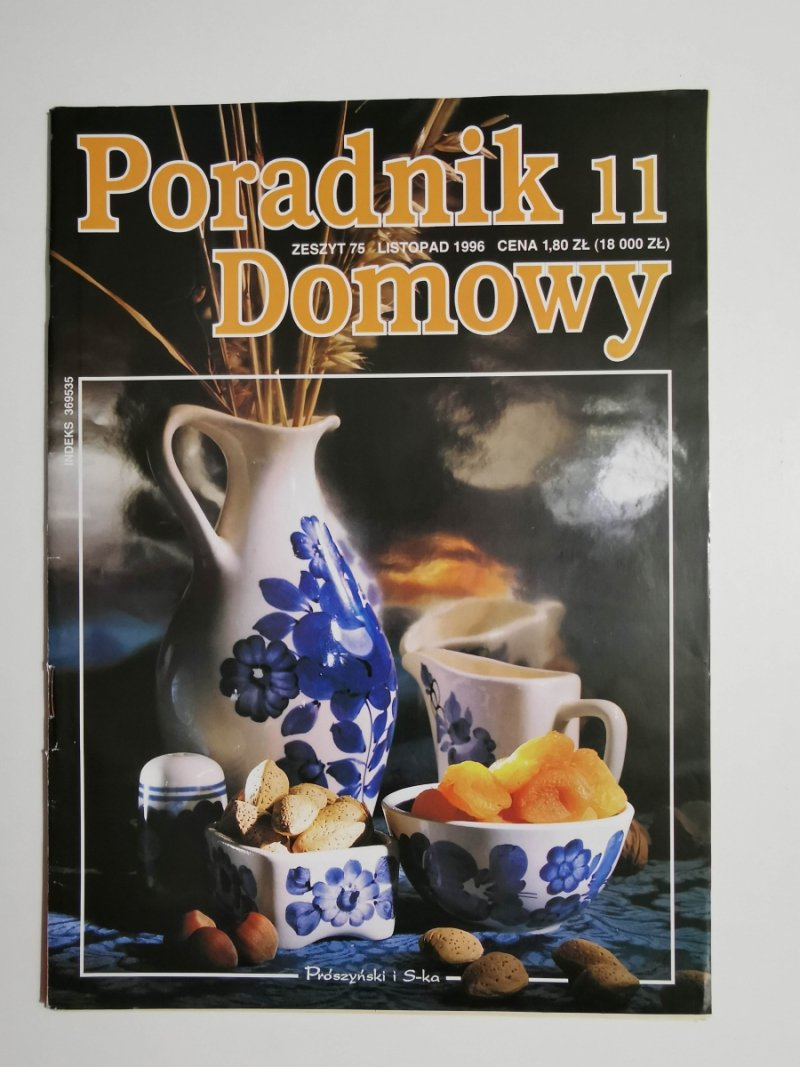 PORADNIK DOMOWY 11 ZESZYT 75 LISTOPAD 1996