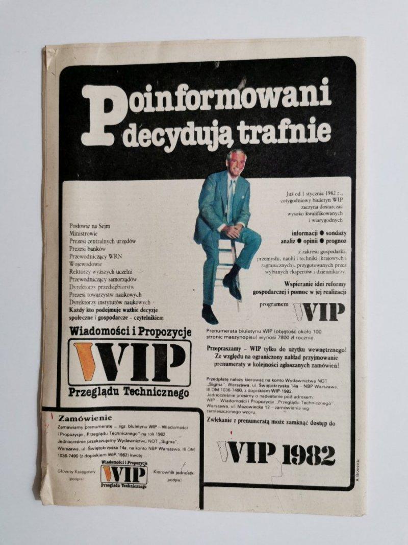 PRZEGLĄD TECHNICZNY INNOWACJE NR 47 22.11.1981