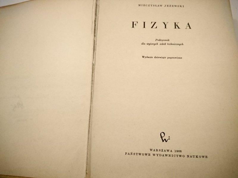 FIZYKA - Mieczysław Jeżewski 1966