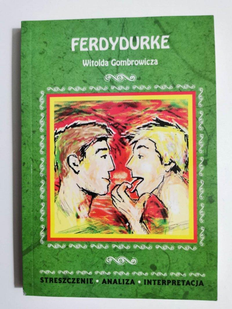 FERDYDURKE WITOLDA GOMBROWICZA 2009