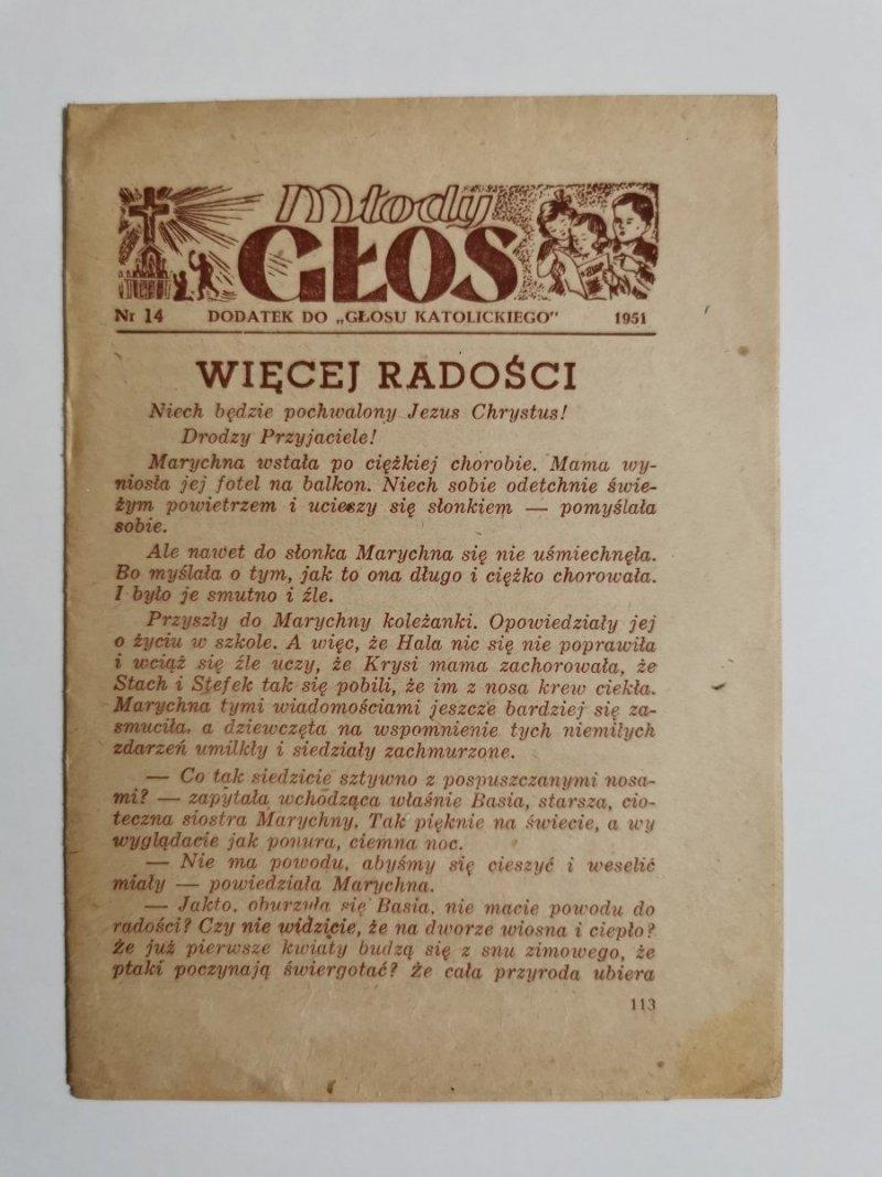 MŁODY GŁOS DODATEK DO GŁOSU KATOLICKIEGO NR 14 1951