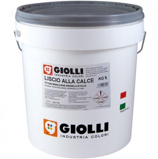 LISCIO ALLA CALCE - 5KG (biała farba wapienna - wewnętrzo/zewnętrzna z możliwością barwienia)