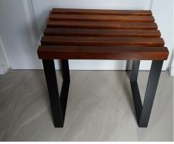 Stolek metalowo drewniany  K
