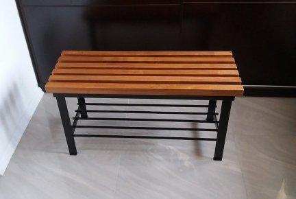 Ławka z półką - tek