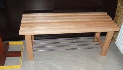 Ławka z półką