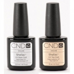 Promocja CND Shellac  UV Top Coat 15ml + Baza 12.5ml