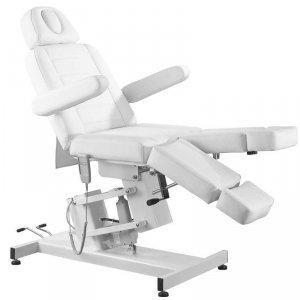 Fotel kosmetyczny elektr. Azzurro 706 Pedi 1sil. - biały