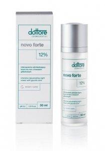 Dottore Cosmeceutici Novo forte - Intensywnie odmładzający krem z 12% kwasem glikolowym 30ml
