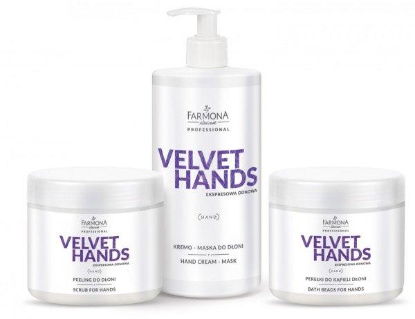 Farmona Velvet Hands - Pakiet - Zabieg wygładzająco rozjaśniający na dłonie