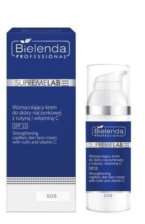 Bielenda Supremelab S.O.S Wzmacniający krem do skóry naczynkowej z rutyną i witaminą C SPF 15 50ml