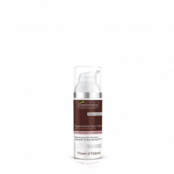 Bielenda - Power of Nature Regenerujący krem do twarzy z ekstraktem ze śluzu ślimaka SPF 15  50ml