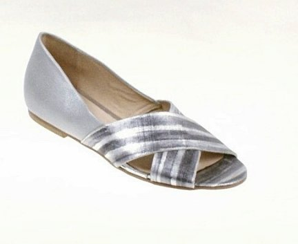 Laura Messi 1766 balerina rozm.38 popiel/srebro