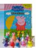 Świnka Peppa Moc zabawy Peppa wśród przyjaciół + mata i 10 figurek