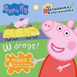 Świnka Peppa Układanka Kolorowanka W drogę (puzzle)