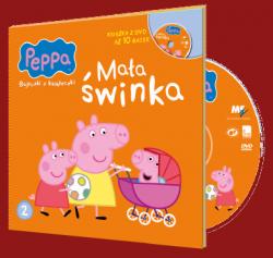 Świnka Peppa Bajeczki z Książeczki 2 Mała świnka - książka z płytą DVD