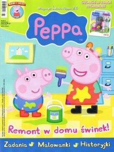 Świnka Peppa magazyn 09/2014 + figurka GEORGE W ZBROI RYCERSKIEJ