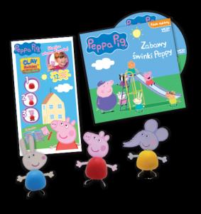 Świnka Peppa Clay Buddies plastelinki + płyta z bajkami