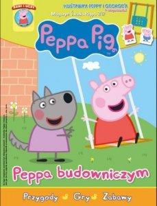 Świnka Peppa magazyn 7/2017 Peppa budowniczym + huśtawka Peppy i George'a
