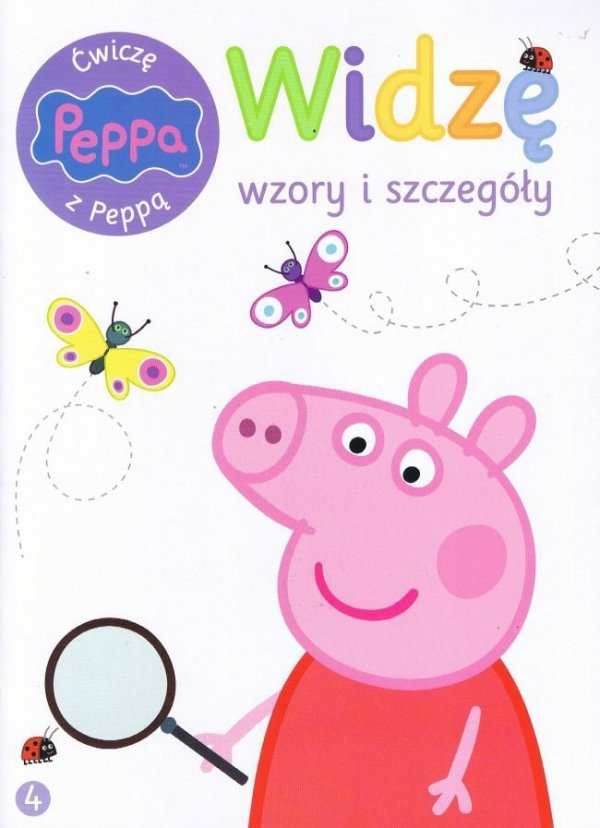 Świnka Peppa Ćwiczę z Peppą 4 Widzę wzory i szczegóły