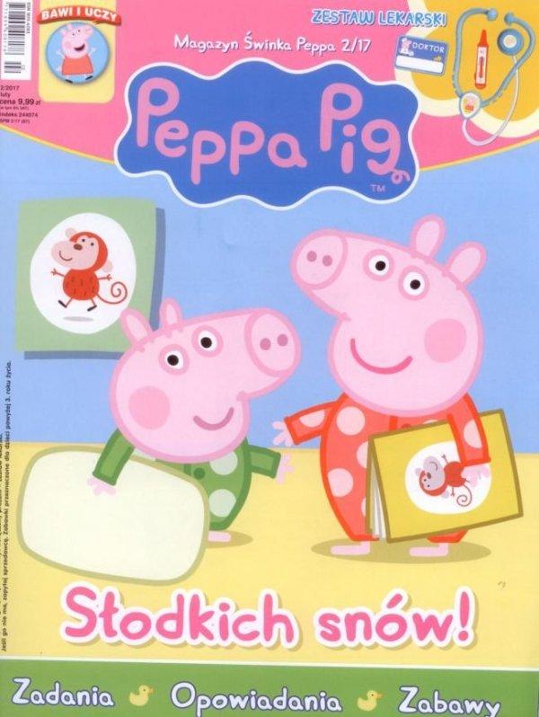 Świnka Peppa magazyn 2/2017 Słodkich snów! + zestaw lekarski