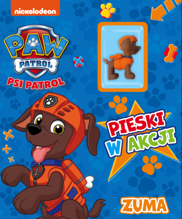 Psi Patrol Pieski w akcji 6 Zuma (z figurką)