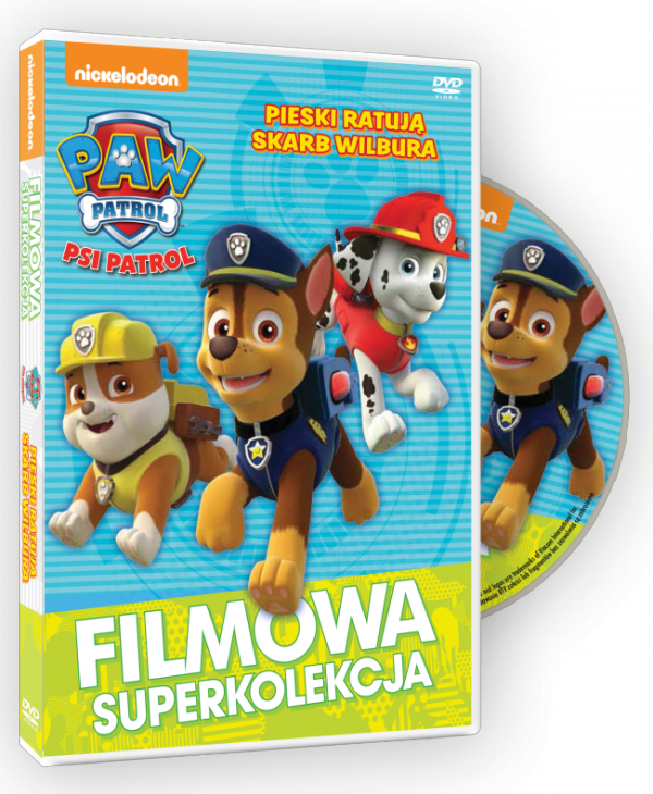 Filmowa Superkolekcja Psi patrol Pieski ratują skarb Wilbura DVD