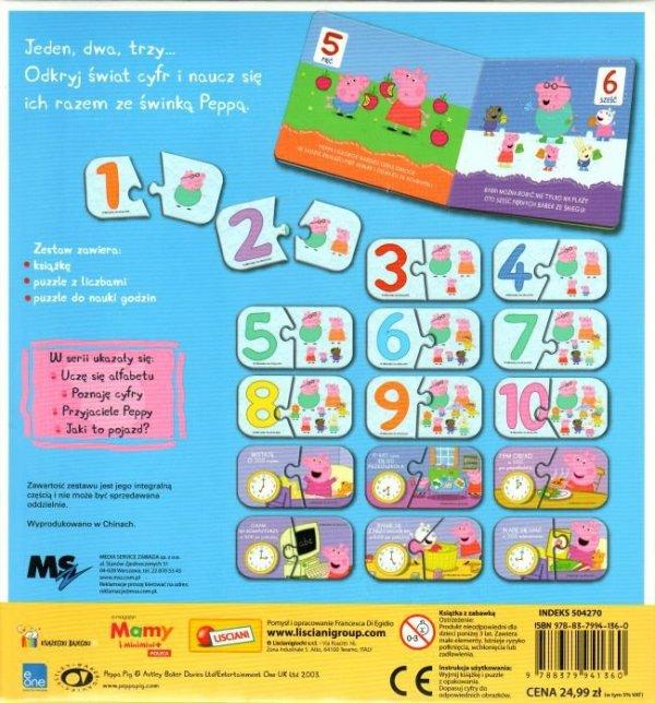 Świnka Peppa Poznaję cyfry (16 puzzli z cyframi)