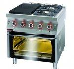 Kuchnia gazowa z płytą grzewczą z piekarnikiem elektrycznym  800x700x900 mm KROMET 700.KG-2/I-400/PE-2 700.KG-2/I-400/PE-2
