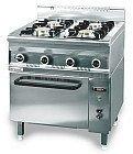 Kuchnia gazowa z piekarnikiem gazowym 800x700x900 mm KROMET 700.KG-4/PG-1 700.KG-4/PG-1