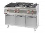 Kuchnia gazowa z płytą grzewczą  1200x700x900 mm KROMET 700.KG-4/I-400.S 700.KG-4/I-400.S