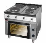 Kuchnia elektryczna z piekarnikiem z termoobiegiem  KROMET 700.KE-4/PE-1T LINIA 700
