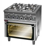 Kuchnia gazowa z piekarnikiem elektrycznym 800x700x900 mm KROMET 000.KG-4s/PE-1 000.KG-4s/PE-1