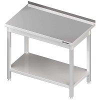 Stół przyścienny z półką 1000x700x850 mm spawany STALGAST 612307 612307