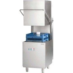 Zmywarko wyparzarka kapturowa 500x500, 10 kW z dozownikiem płynu myjącego i pompą wspomagającą płukanie i pompą zrzutową STALGAST 803027 803027