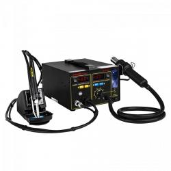 Stacja lutownicza - 75 W - odsysacz oparów - uchwyt na cynę - 2 x LED - Basic STAMOS 10021026 S-LS-16 Basic